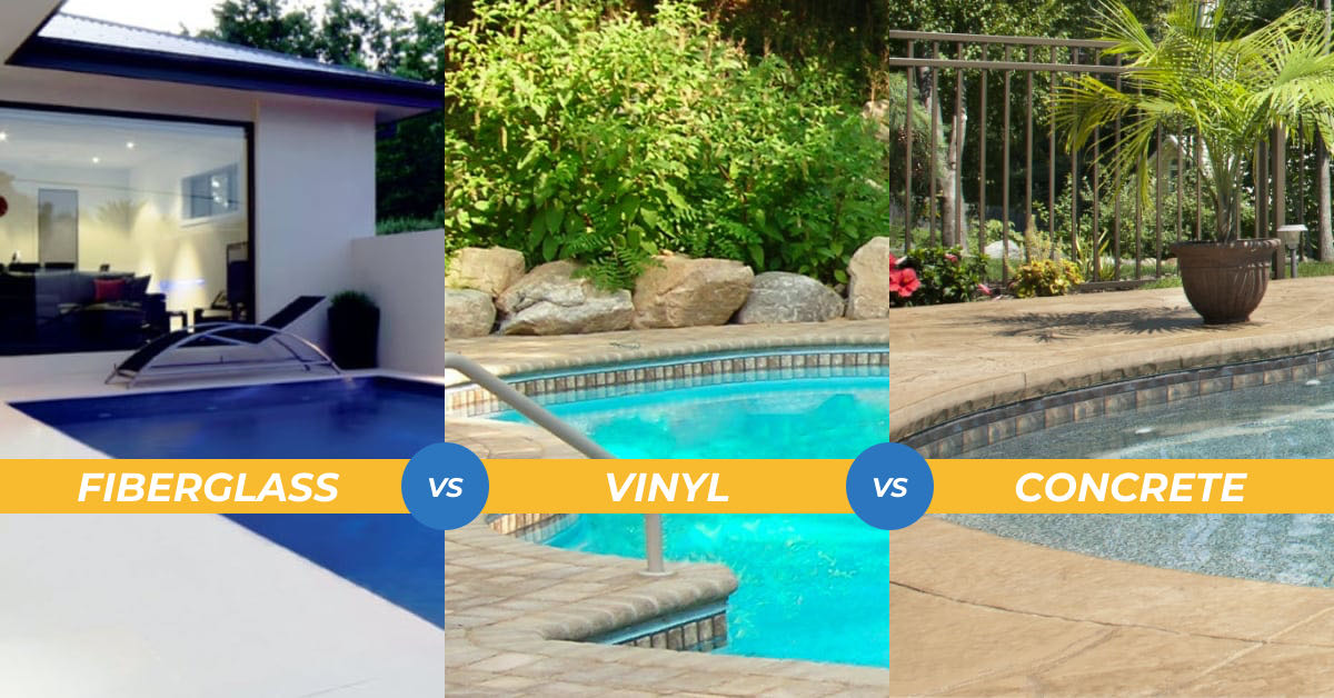 Fibreglass vs. Vinyl Pool vs. Concrete Pool